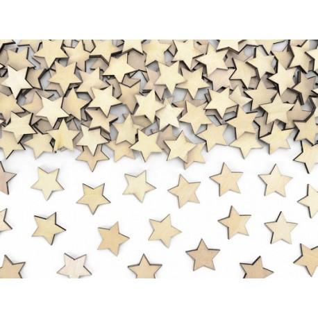 Confeti Estrellas de Madera 2 cm