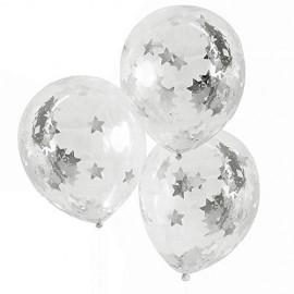 5 Globos de Confeti de Estrellas