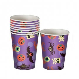 8 Vasos Halloween Divertido