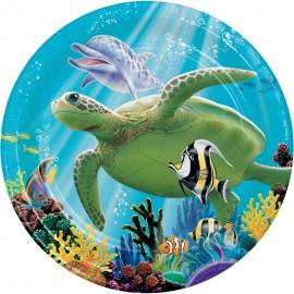 8 Platos Ocean Party 18 cm