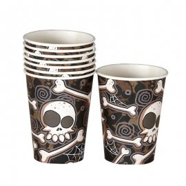 8 Vasos Calavera Halloween