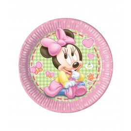 8 Platos Baby Minnie 20 cm