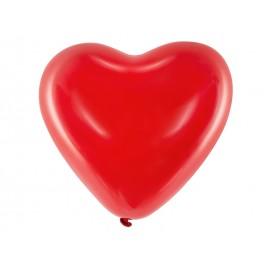 Globos Corazón de Látex Rojos 40 cm