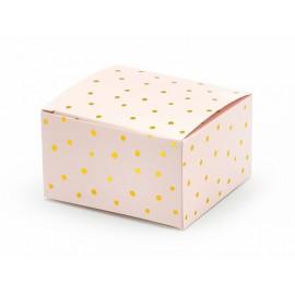 10 Cajas Rosas Con Puntitos 6 x 3,5 x 5,5 cm
