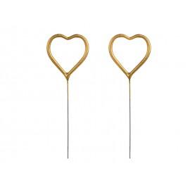 2 Bengalas de Corazón 26,5 cm