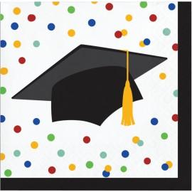 16 Servilletas Graduación Colorines 25 Cm