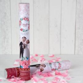 Cañón Confeti Pétalos Rosa Pop&Fun 38 cm