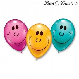 Globos Sonrisa Redondos 30 cm