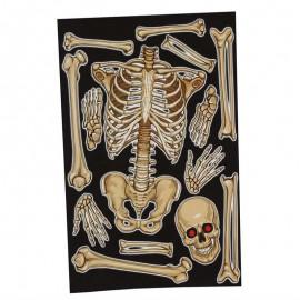 Decoración Ventana Esqueleto 30X40 Cms