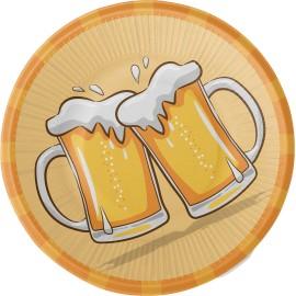 8 Platos Cerveza 23 cm