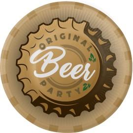 8 Platos Cerveza Beer 18 cm