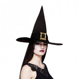 Sombrero de Pico Negro con Adorno