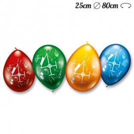Globos Número 4 Redondos M02 25 cm