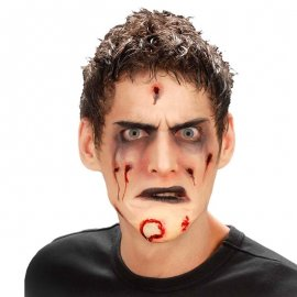 Mentón Zombie con Pegamento