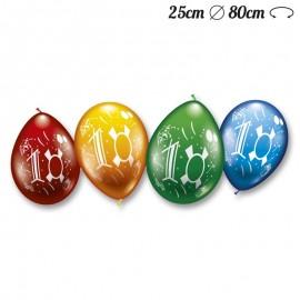 Globos Número 10 Redondos M02 25 cm