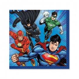 16 Servilletas La Liga de la Justicia 25 cm