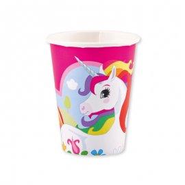 8 Vasos Unicornio 266 ml