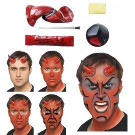 Pintarse la cara para halloween fabulous maquillajes de for Cara pintada diablo