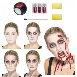 Kit de Pintura Zombie con Brocha y Sangre
