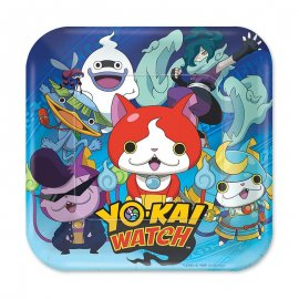 8 Platos Yo Kai Watch 18 cm