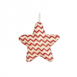 Estrella de Rayas Rojas 15 cm