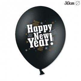 6 Globos Happy New Year 30 cm