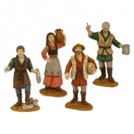 4 Figuras de Pesebre 8 cm