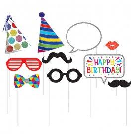 10 Accesorios de Cumpleaños para Photocall