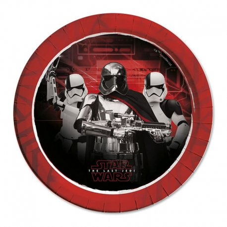 8 Platos Star Wars VIII 23 cm
