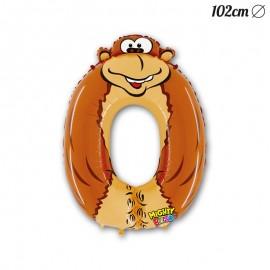 Globo Número 0 Gorila Foil 102 cm