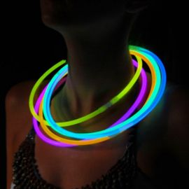 Collares Fluorescentes Luminosos Unicolor (50 uds)