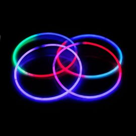 Collares Fluorescentes Luminosos Tricolor (50 uds)