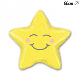 Globo Estrella Sonrisa Foil 66 cm