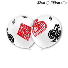 Globos Poker Redondos 32 cm