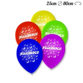 Globos Felicidades Pack Redondos 25 cm