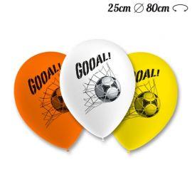 Globos Fútbol Pack Redondos 25 cm