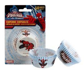 50 Cápsulas Spiderman para Cupcakes