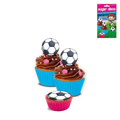 16 Mini Discos Fútbol de Azúcar Sin Gluten