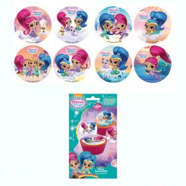 16 Mini Discos Shimmer and Shine