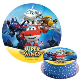 Disco Super Wings de Azúcar Sin Gluten