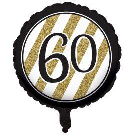 Globo 60 Negro y Oro 45 cm