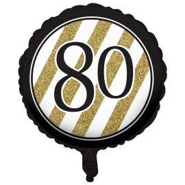Globo 80 Negro y Oro 45 cm
