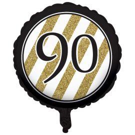 Globo 90 Negro y Oro 45 cm
