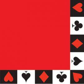 16 Servilletas Casino 33 cm