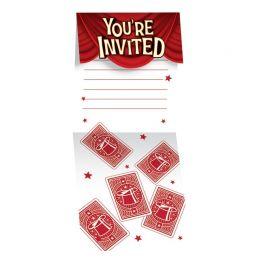 8 Invitaciones Magic Party