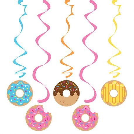 5 Decoraciones Colgantes Donut Time
