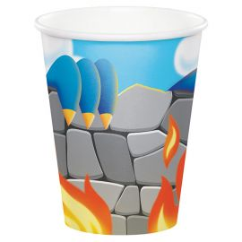 8 Vasos Dragons 266 ml