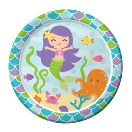 8 Platos Sirena 18 cm