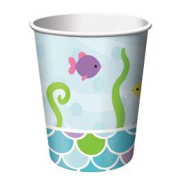 8 Vasos Sirena 266 ml