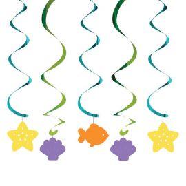 5 Decoraciones Colgantes Sirena